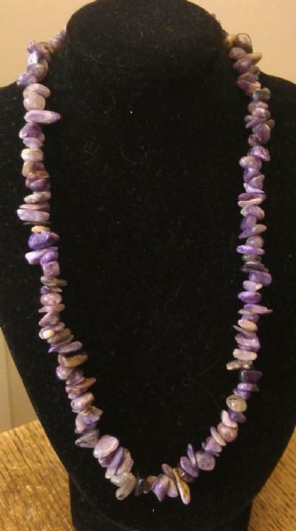 "Charoite Necklace 16"" to 34"", Long Necklace, Short Necklace, Unisex Necklace"